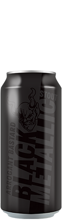 Arrogant Bastard Black Metallic Stout can